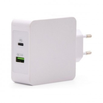 USB laddare vägg TooQ TQWC 2SC03WT