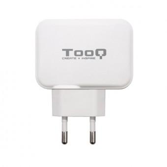 USB laddare vägg TooQ TQWC 2SC02WT
