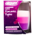 AirPure Romantic Nights Candle - Romantiska doftljus - 3 ljus i ett - Jasmine / Lotus / Lavender