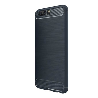 Fancy Brushed Soft TPU och Carbon Fiber Cover för Huawei P10 (Blue)