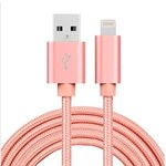 Billiga Nylon Blixt Cable Rose Gold - 2 meter