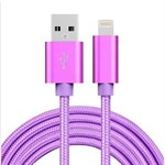 Billiga Nylon Blixt Cable Purple - 2 meter