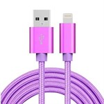 Billiga Nylon Blixt Cable Purple - 3 Meter