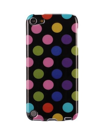 Apple iPod Touch 5/6 Cover Dots (Black, Multicolor)