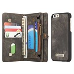 CaseMe Flap Wallet för iPhone 6 / 6S - Svart