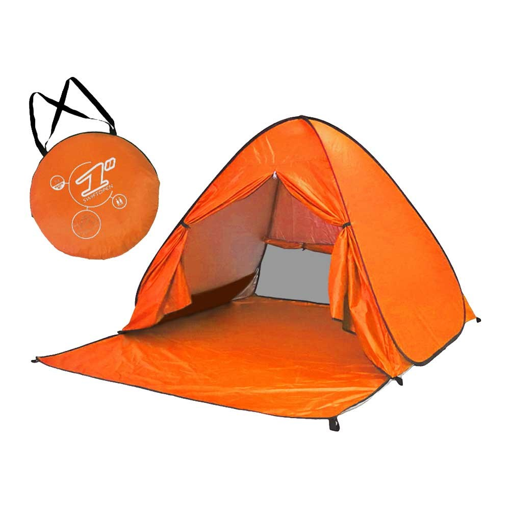 Pop-up tält vattentät för Beach / Festival 150 X 165 X 100 cm - Orange