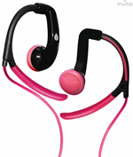 Puro Earhook Headset för MP3 / Smartphone / Tabs - Pink