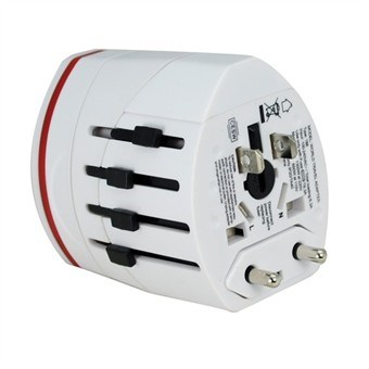 World Travel Power Adapter / Converter med Dual USB-port / USA-UK-AU-EU