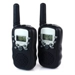 Walkie Talkie-intervall 2,5 km (2 st) - Svart