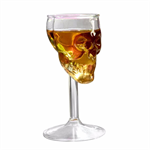Crystal Skull Head Long Shots Glass 1 st